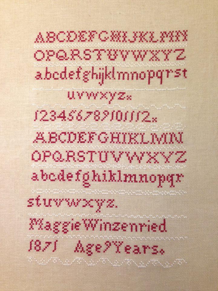 Antique Reproduction Sampler
